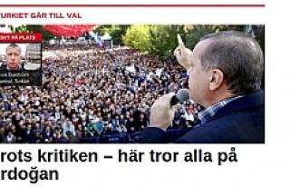 SVT:''Eleştirilere rağmen çoğunluk Erdoğan'a...