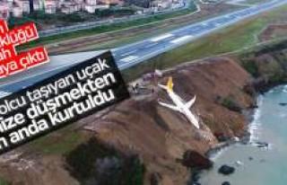 Trabzon'da kaza yapan Pegasus uçağının dehşet...