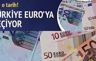 Türkiye  EURO'ya geçiyor işte o tarih