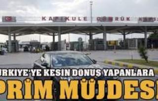 TÜRKİYE'YE KESİN DÖNÜŞ YAPANLAR!!