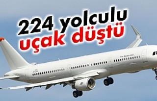 Uçak düştü 224 ölü