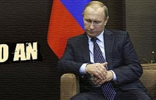 Uçak düştükten hemen sonra, Putin'in dalgın...