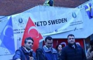 UETD'nin Pretosto Gösterisi İsveç Basınında...