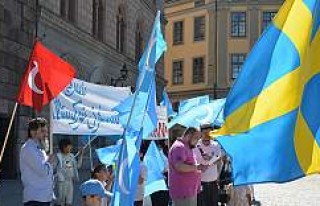 Urumçi katliamı İsveç'te protesto edildi