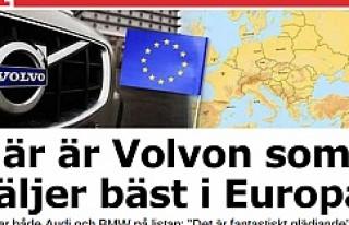 Volvo Avrupa'nın en çok satan arabası oldu