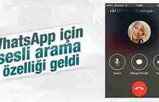 WhatsApp'a iPhone için sesli arama özelliği...