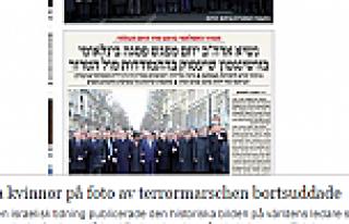 Yahudi gazetesi kadın başbakanları sildi...