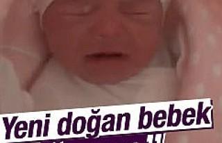 Yeni doğan bebek anne dedi, sosyal medya yıkıldı