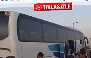 Yolculara kızan şoför otobüsü otobanda bırakıp...