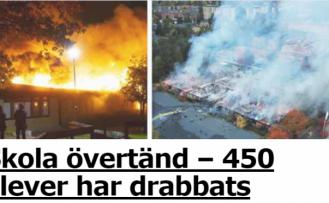 İsveç'te okul kundaklandı