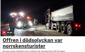 İsveç'te ki trafik kazasında 6 İsviçreli öldü