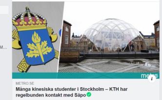 İsveç'te Çinli öğrenciler için casusluk şüphesi
