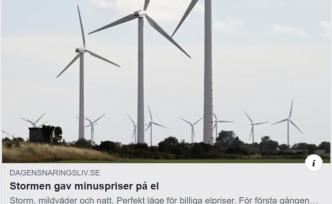 İsveç'te fırtına elektrik fiyatlarını düşürdü