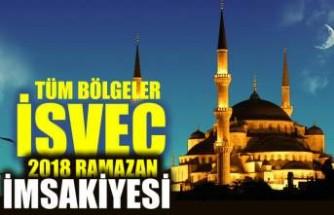 Bölge bölge İsveç için Ramazan imsakiyesi 2018