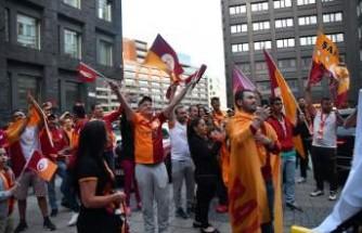 Galatasaray'dan Stockholm'de coşkulu kutlama