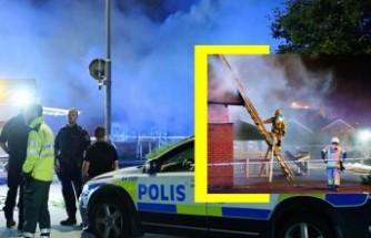 İsveç'te soyguncular market sahibini, marketi ateşe verdi
