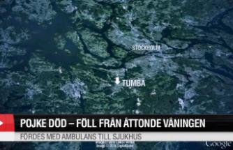 Botkyrka'da balkondan düşen çocuk öldü