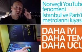 Norveçli YouTuber, İstanbul metrosuna hayran oldu