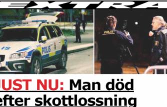 Stockholm'de gece silahlı saldırıya uğrayan bir kişi öldü.