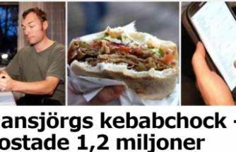 Bir kebab dönere 1,2 milyon kron ödeyen İsveçli