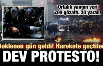 Fransa'da sert müdahale! 700 gözaltı, 30 yaralı
