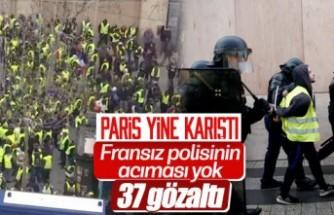 Fransa'da Sarı Yelekliler 5. kez sokağa çıktı