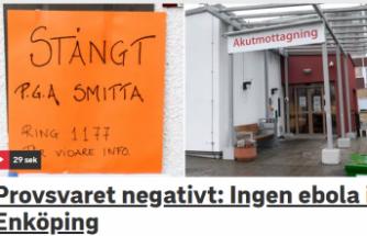 İsveç'i korkutan hastada  'Ebola Virüsü' çıkmadı