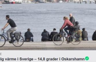İsveç'te  o bölgesinde sıcaklık 14 dereceyi gördü