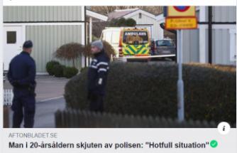 İsveç'te Polis ambulans personeline saldıranı vurdu