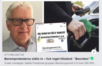 İsveç'te benzin fiyatlarını protestoya izin çıkmadı