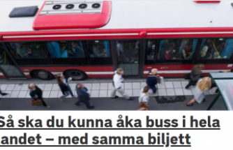 İsveç'te toplu taşıma bileti her yerde geçecek