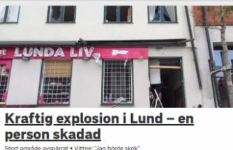 İsveç'te şiddetli patlama 1 yaralı