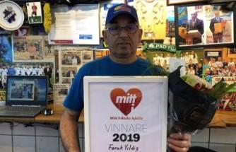 Gurbetçi esnafa İsveç'te 'yılın kahramanı' ödülü