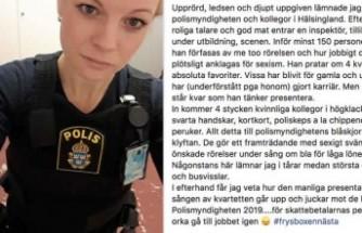 Cinsiyetçi ayrımcılık İsveçli kadın polisi gözyaşlarına boğdu