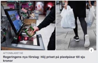 İsveç'te naylon poşet 7 kron oluyor