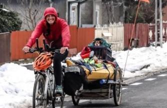 İnsanlık için İsveç'ten Türkiye'ye kadar pedal çevirdi