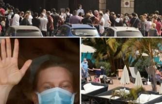 Virüs nedeniyle karantinaya alınan otel ilk kez görüntülendi