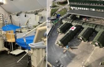 Göteborg'da kurulan sahra hastanesi hizmete hazır