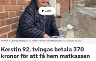 İsveç'te bir  belediye yaşlıların yiyecek poşetini 370 krona taşıyor