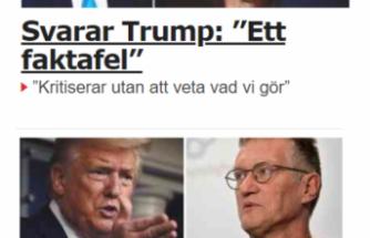 İsveç'in koronovirüs mücadelesini eleştiren Trump'a sert cevap