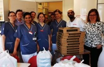 İsveç'te Cihanbeyli kardeşler sağlık çalışanlarına moral verdi