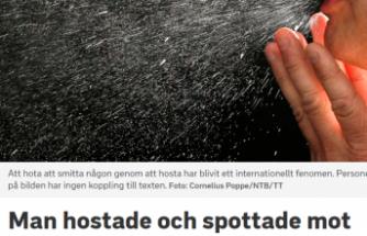İsveç'te halka korona virüs bulaştırdığını söyleyen bir kişi tutuklandı