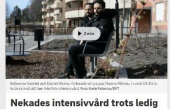 İsveç'te yoğun bakıma alınmayan 81 yaşındaki Kovid-19 hastası hayatını kaybetti