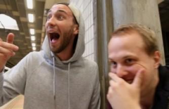 Stockholm sokaklarında gizemli bir adam, görenleri şaşırtıyor