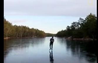 İsveçli Matematikçinin İnce Buz Tabakası Üzerinde Gerçekleştirdiği Harika Ses Deneyini İzleyin ve Dinleyin.