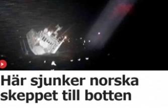 Norveç'te balıkçı teknesi denize böyle battı