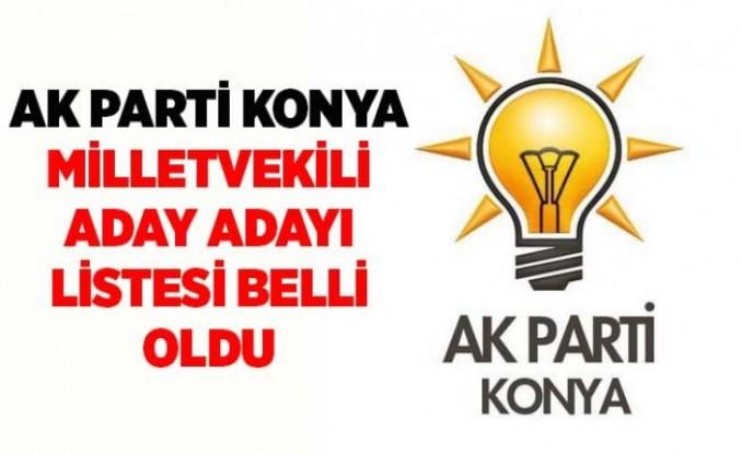 Ak Parti Konya Milletvekili Adayları Belli oldu: Kulu'dan listeye bir kişi girdi