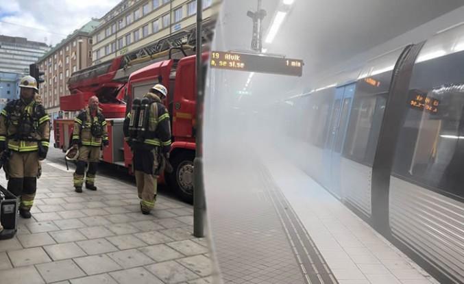 Stockholm metrosunda dumanlar yükselince