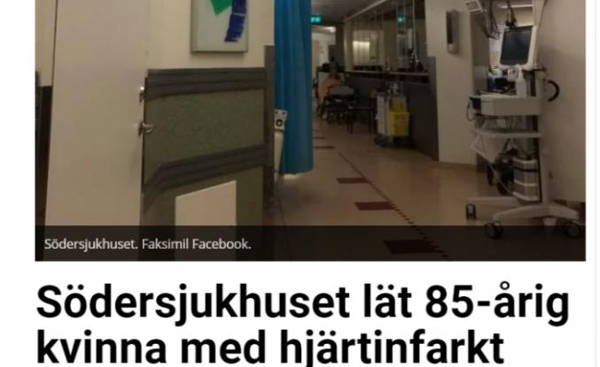 İsveç'te sağlık skandalı: acilde 8 saat bekleyen hasta öldü