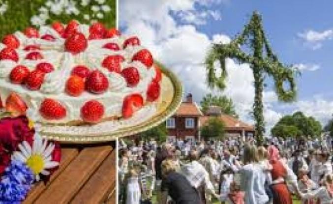 İsveç'te 'Midsommar Günü' çiçekten taçlarla ve kurbağa danslarıyla kutlanıyor